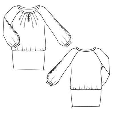Платье с напуском сшить своими руками